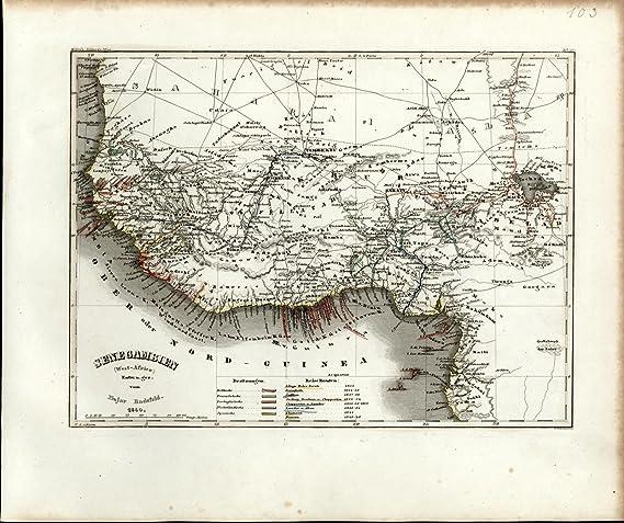 Amazon Com West Africa Senegal Gold Ivory Slave Coast C 1850