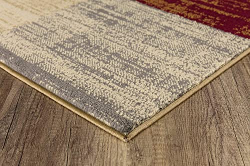 Product Name Mod-Arte Crown Collection Area Rug Contemporary Traditional Style Multicolored Geometric 7 8 x 10 2