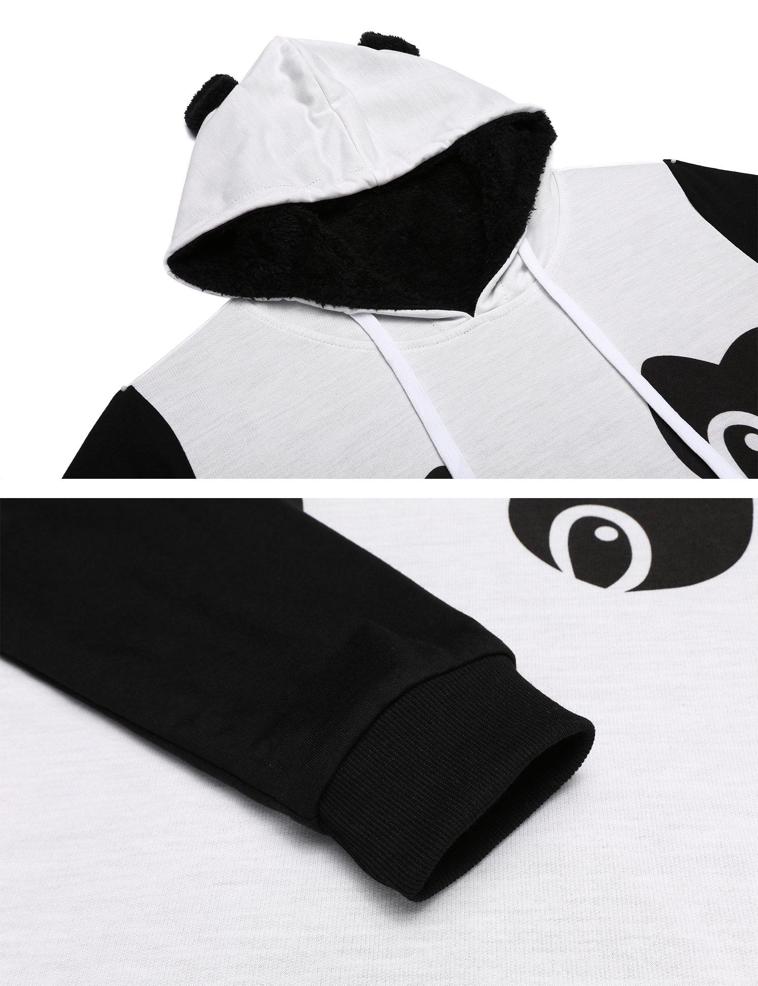 Zeagoo Women's Loose Fit Pullover Hoodie Sweatshirt with Kangaroo Pocket,White,M by Zeagoo (Image #6)