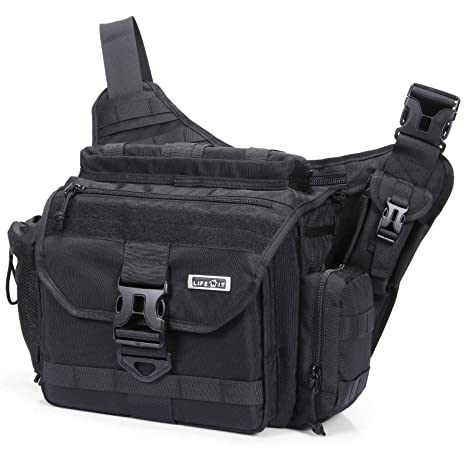 b6ccc41cce Lifewit Tactical Messenger Bag Multi-Functional Military Shoulder Bags  Laptop Cross Body Bag Fit Hiking