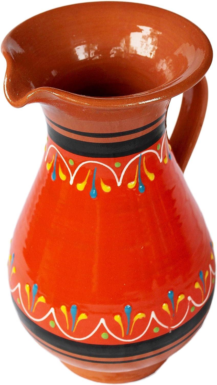 Cactus Canyon Ceramics Spanish Terracotta 2 Quart Pitcher, Orange