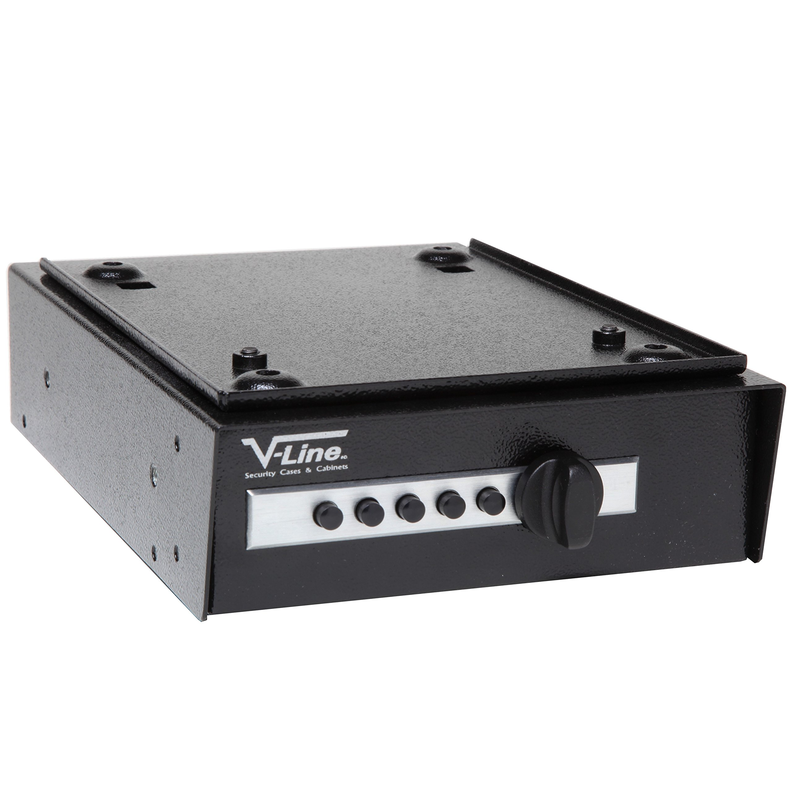 V-Line 2597-S Desk Mate Keyless Security Box with Quick Release Mounting Bracket (Black) by V-Line