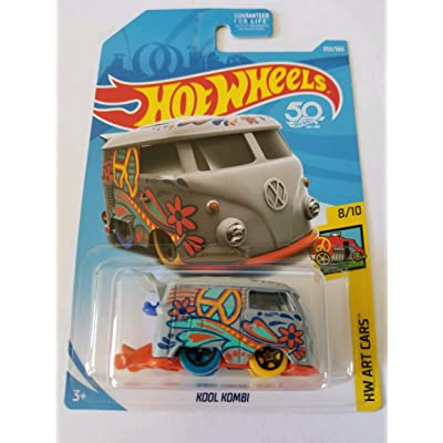 Hot Wheels 2020 50th Anniversary Hw Art Cars - Kool Kombi (Grey): Toys & Games