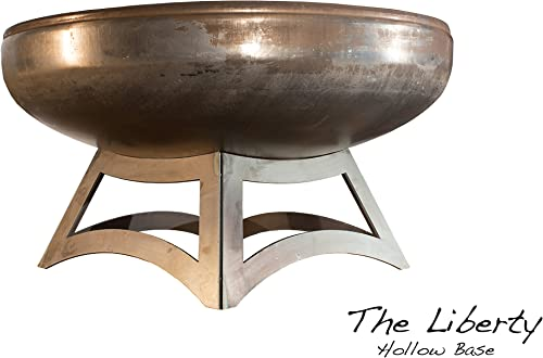Ohio Flame 24 Liberty Fire Pit with Hollow Base Made in USA – Natural Steel Finish