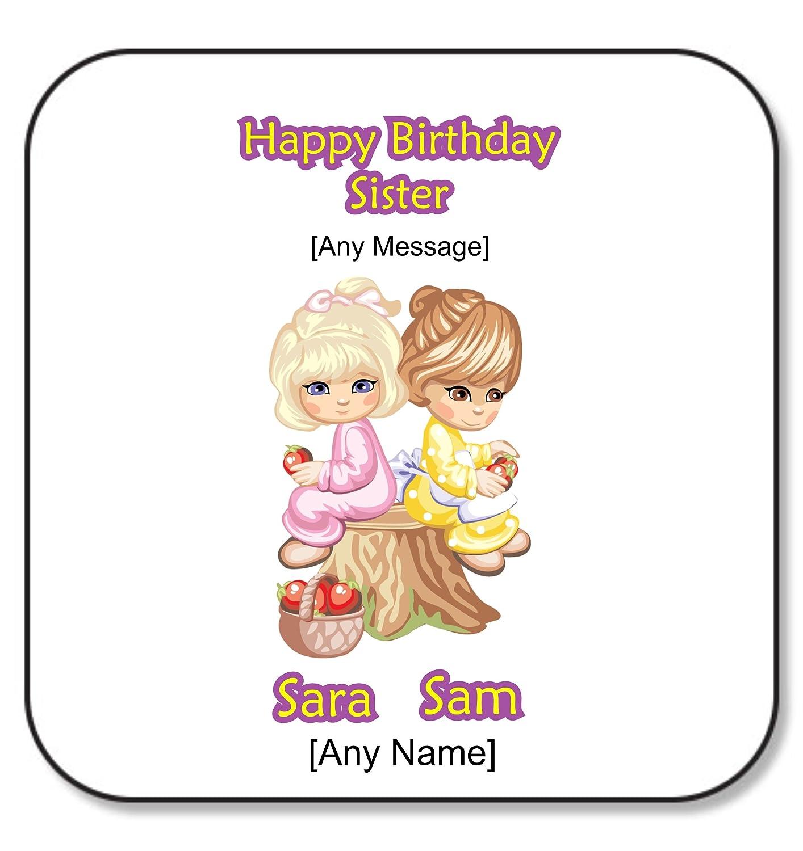 Personalizable hermana regalos - feliz cumpleaños hermana ...