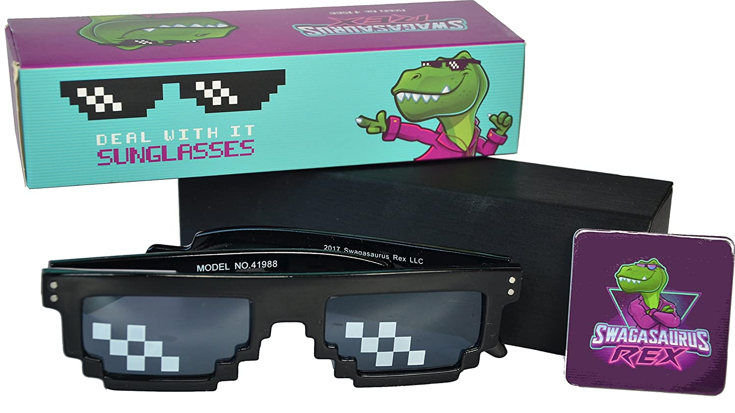 d88bf2cfa6a Amazon.com  Deal With It Glasses - Thug Life Sunglasses by Swagasaurus Rex   Toys   Games