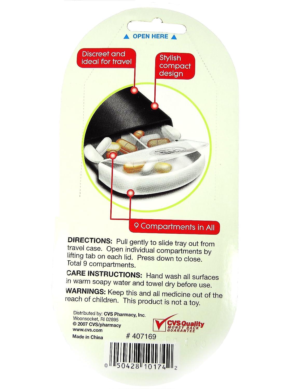 amazon com 9 compartment pill traveler health u0026 personal care