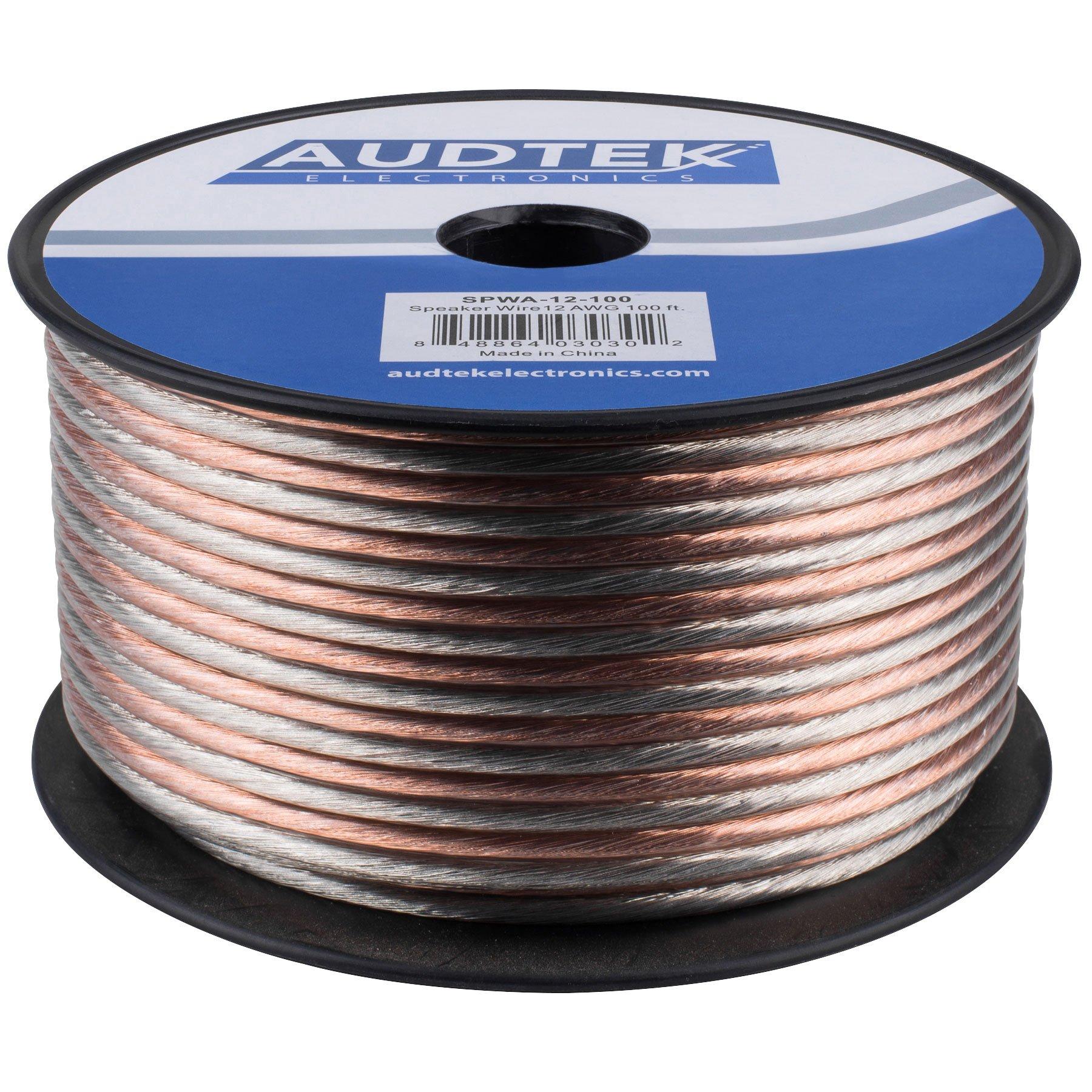 Audtek Electronics SPWA-12-100 12 AWG Speaker Wire 100 ft. Spool