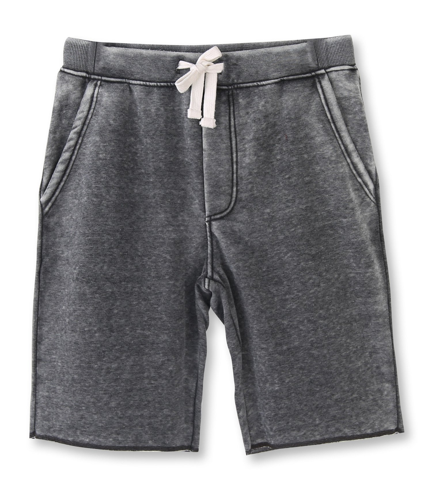 HETHCODE Men's Casual Classic Fit Cotton Elastic Fleece Jogger Gym Shorts Burnout Gray XL