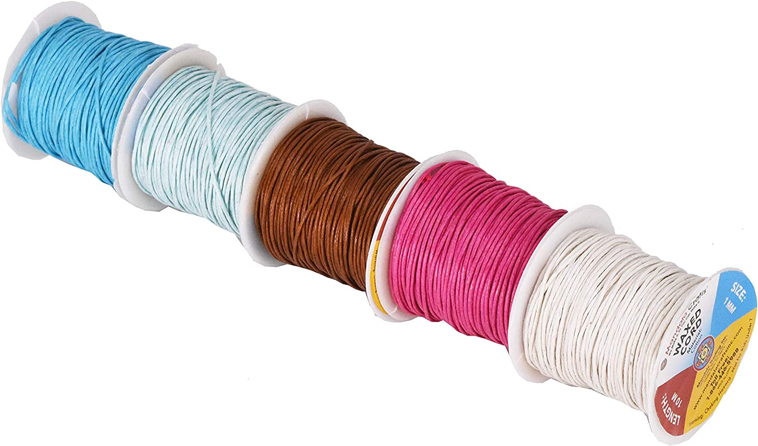 25 Assorted Colors Mandala Crafts 1mm Jewelry Making Crafting Beading Macram/é Waxed Cotton Cord Thread