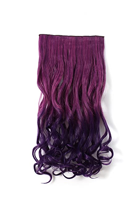 One Dor 24 Straight 20 Curly 34 Full Head Dip Dye Color