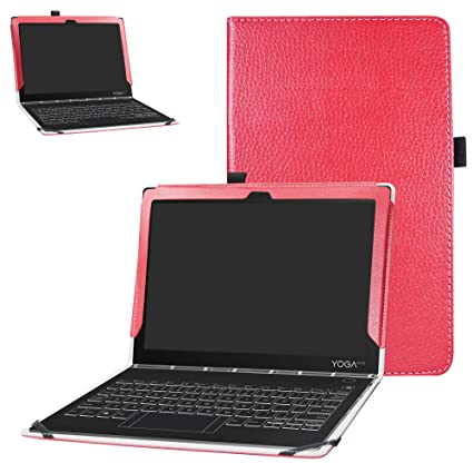 huge selection of a5133 b763a Lenovo Yoga Book C930 Case,Bige PU Leather Folio 2-Folding Stand Cover for  10.1