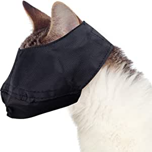 Cat Muzzle - Large fits Cats 12 lbs and Over - Black, by Downtown Pet Supply