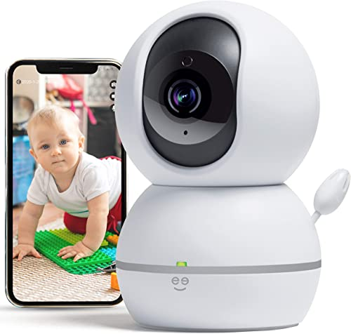Geeni Smart Home Pet and Baby Monitor with Camera, 1080p Wireless WiFi Camera with Motion and Sound Alert White