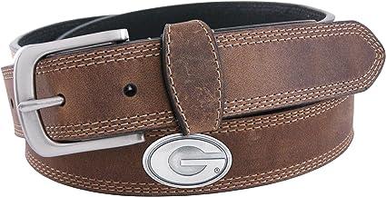 NCAA Georgia Bulldogs Crocodile Tip Leather Concho Belt Zeppelin Products Inc