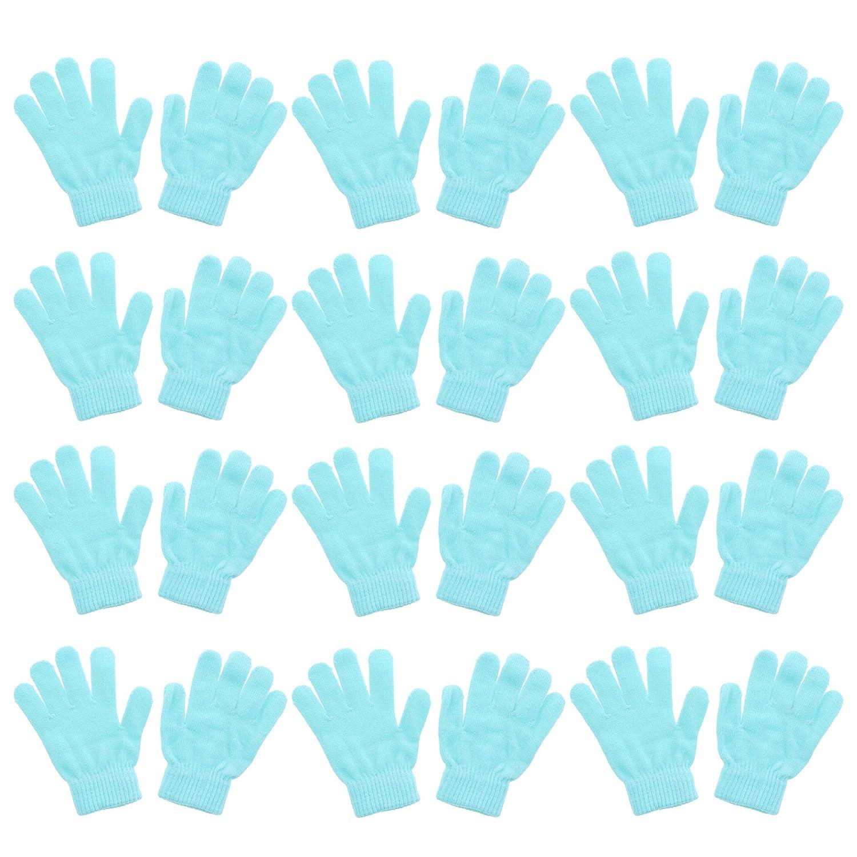 Brown Set of 12 Kids Gloves Magic Knit for Girls//Boys