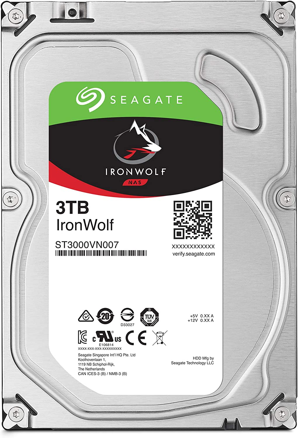 ST8000VN004 3.5 Inch SATA 6Gb//s 7200 RPM 256MB Cache for RAID Network Attached Storage Seagate IronWolf 8TB NAS Internal Hard Drive HDD Frustration Free Packaging