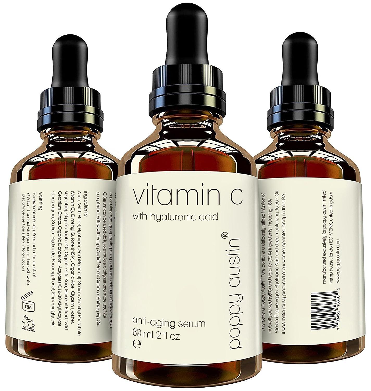 Suero de Vitamina C para el Rostro - TAMAÑO DOBLE 60 ml - El Mejor Suero Natural, Orgánico y Triple Purificado de Vitamina C - con Suero de Ácido ...