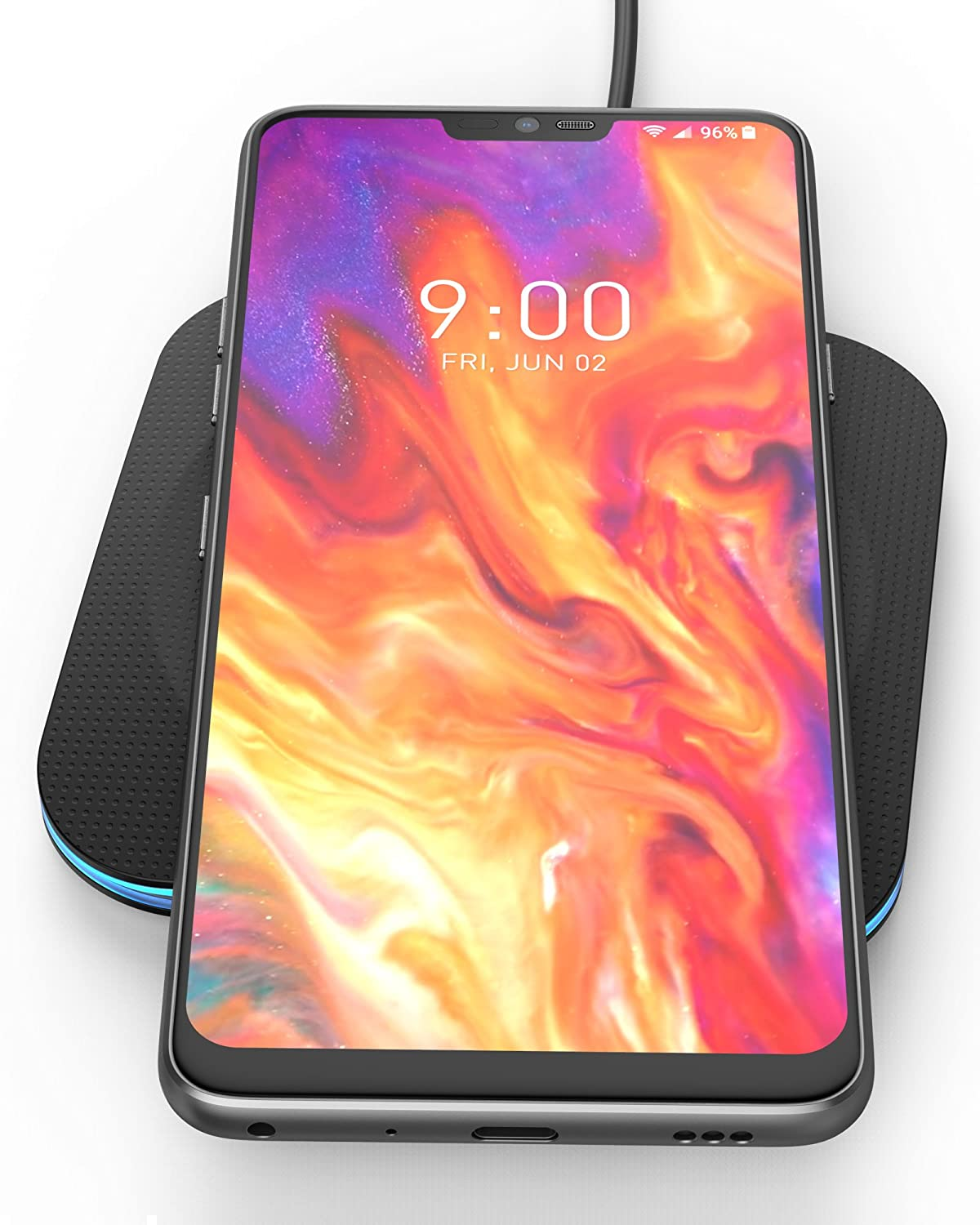Encased Fast Charge Wireless Charger for LG G7 ThinQ, LG G8 ThinQ, Rapid  Quick Charge Qi Pad w/Charging Power Cable (Ac Adapter Sold Separately)  Case
