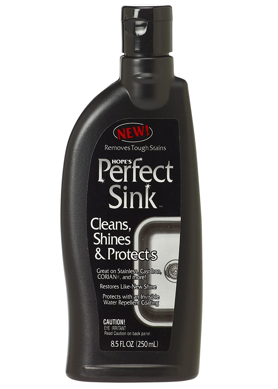 Hope's Perfect Sink - 8.5 oz Sink Cleaner and Polish, Restorative, Water-Repellant Formula, Removes Stains, Good for Brushed Stainless Steel, Cast Iron, Porcelain, Corian, Composite, Acrylic, Vitreous China