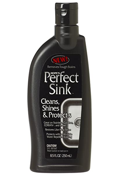 amazon com hope s perfect sink 8 5 oz sink cleaner and polish rh amazon com best stainless steel kitchen sink cleaner diy stainless steel kitchen sink cleaner