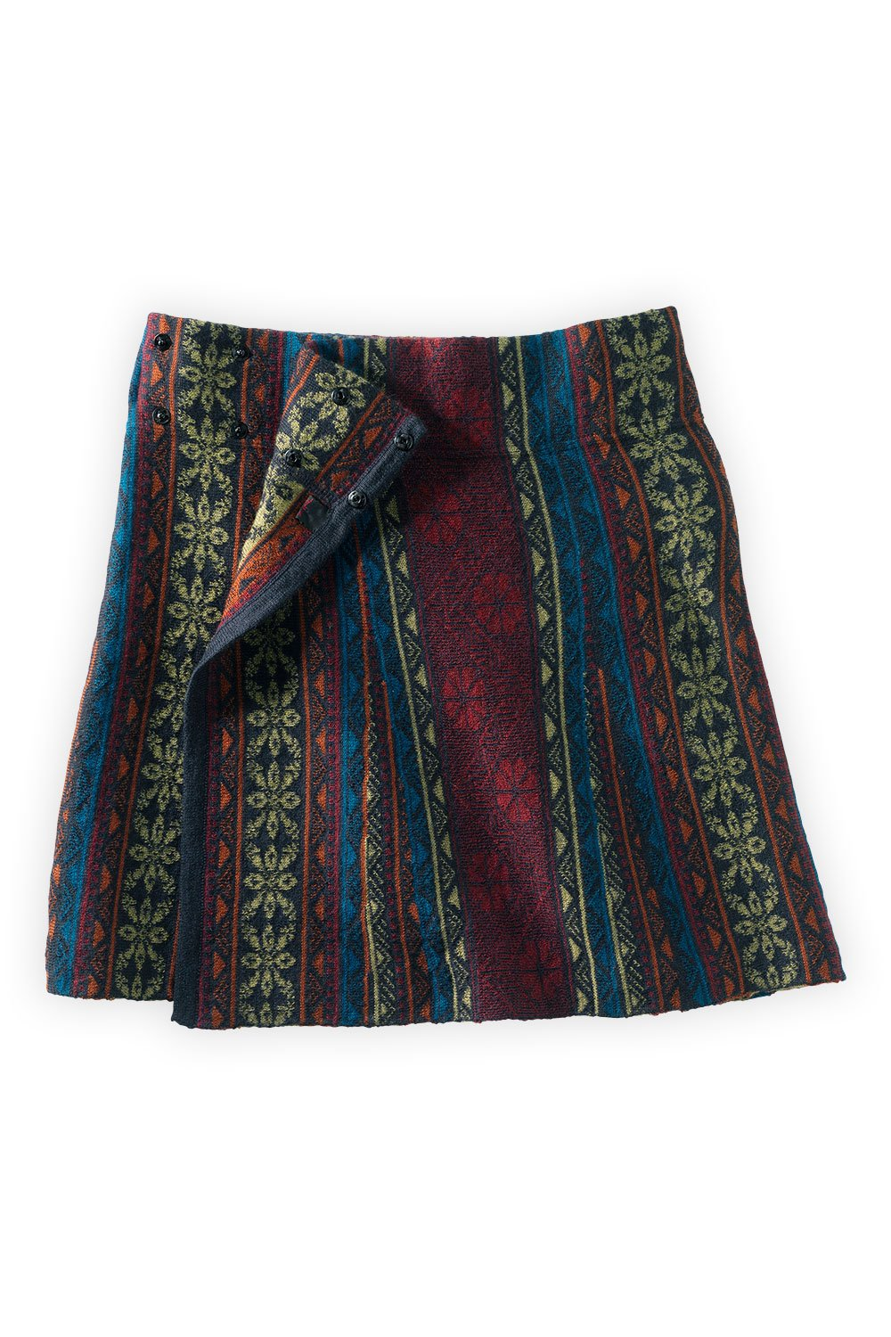 Tey-Art Venetian Blue Jacquard Skirt (One Size, Blue Multi)