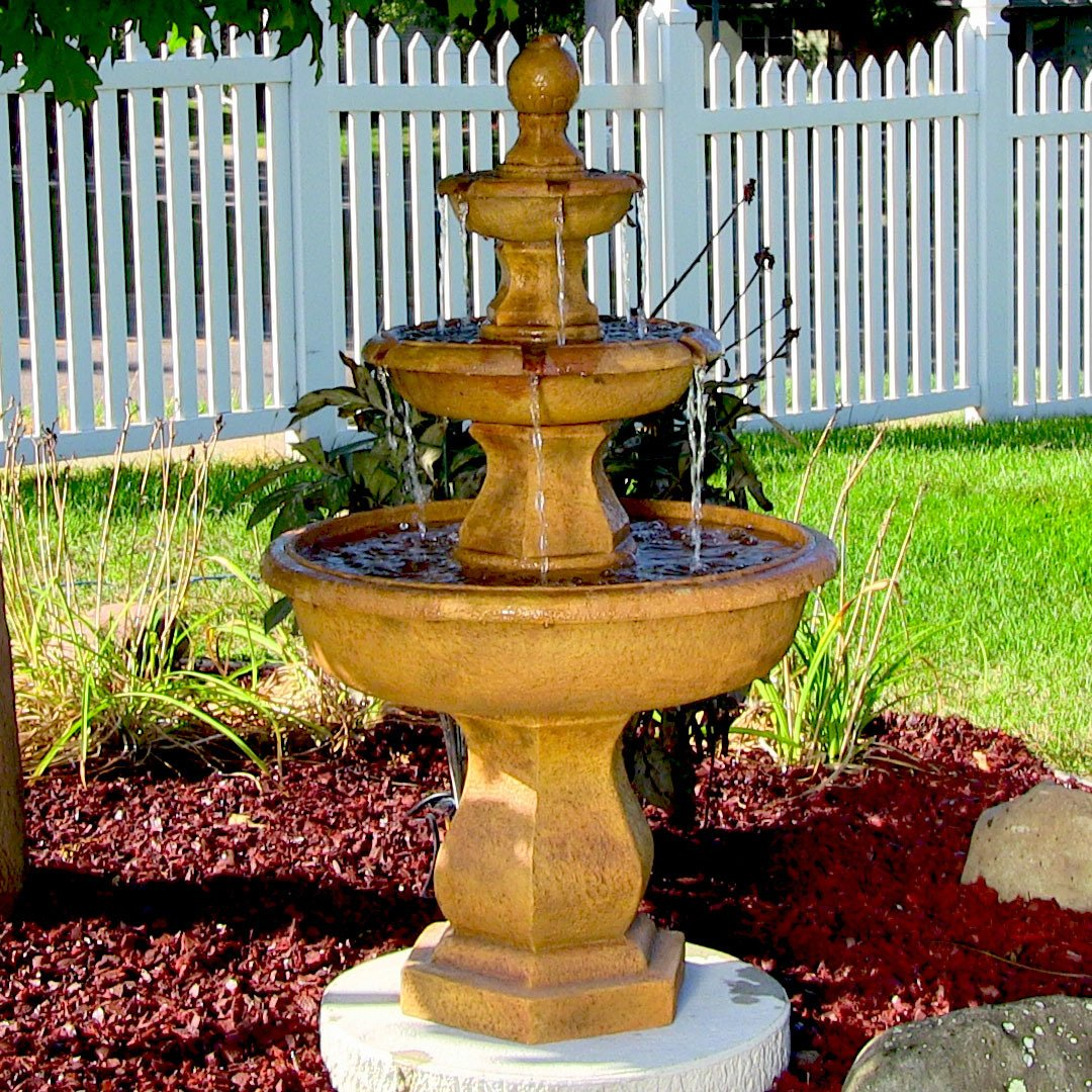 Ordinaire Amazon.com : Sunnydaze Tropical 3 Tier Garden Water Fountain, 40 Inch Tall  : Free Standing Garden Fountains : Garden U0026 Outdoor