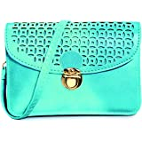 """Pixie Mood """"Vicky"""" Teal Vegan Leather Crossbody Pouch"""