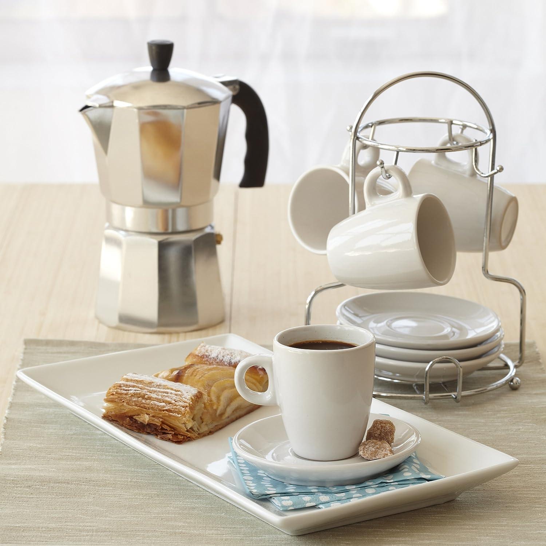 Amazon.com: XCDISCOUNT, B120-43V, ALUMINIO EXPRESO COCINA DE QUEMADORES CAFETERA 6 TAZAS, PLATA: Beauty