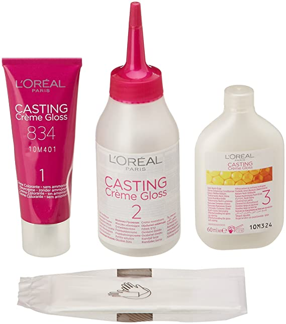 LOreal Paris Casting Crème Gloss Color cuidado. Sin amoníaco, Tono: 834 Rubio Ámbar - 600 ml: Amazon.es: Amazon Pantry