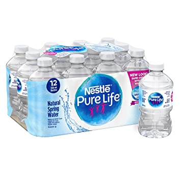 136b1918e1 Image Unavailable. Image not available for. Color: Nestle Pure Life 100% Natural  Spring Water 12x330ml
