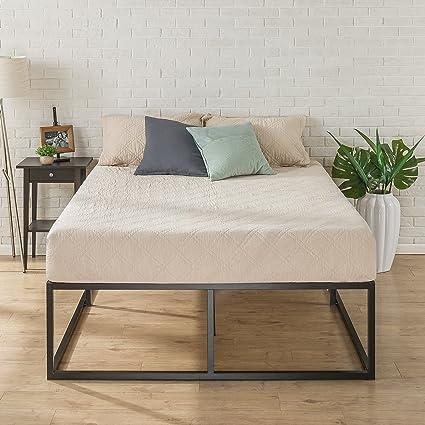 61407d4567d Amazon.com  Zinus Joesph Modern Studio 18 Inch Platforma Bed Frame    Mattress Foundation   Boxspring Optional   Wood slat support