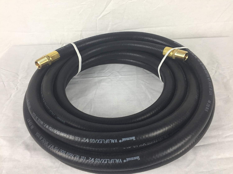 1//4X 75 200 PSI W//Brass 1//4 Rigid Male X Rigid Male Dixon Fittings Attached HBD Thermoid Value-Flex Black Hose