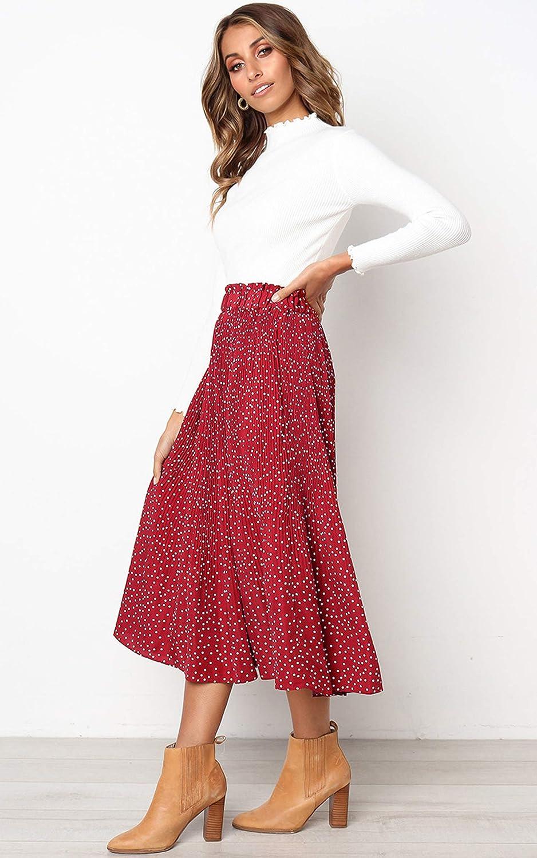 Vestido casual con bolsillos y falda plisada estilo vintage y hinchado ECOWISH