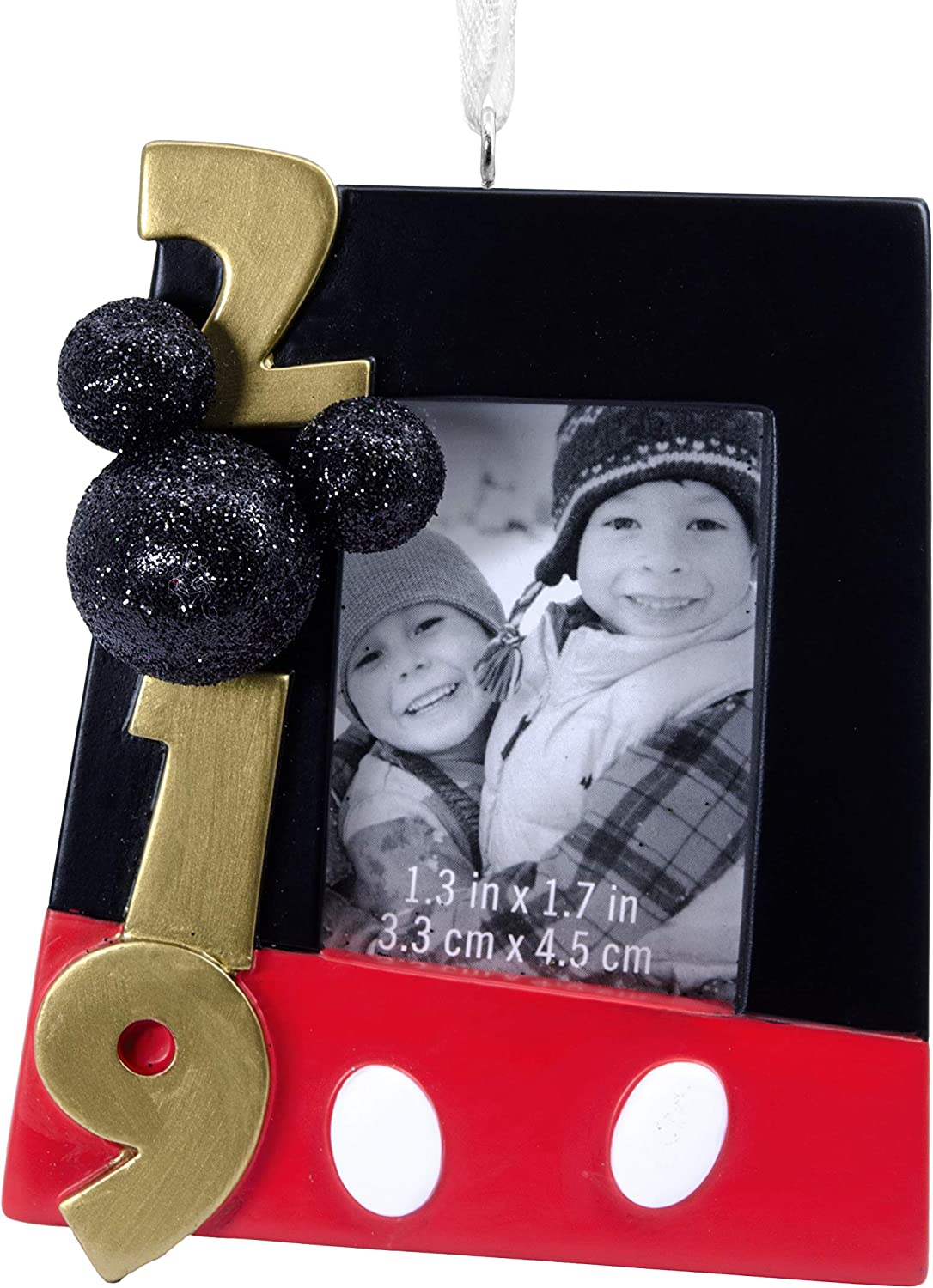 Hallmark Christmas Ornaments 2019 Year Dated  Disney Mickey Mouse Picture Frame Ornament