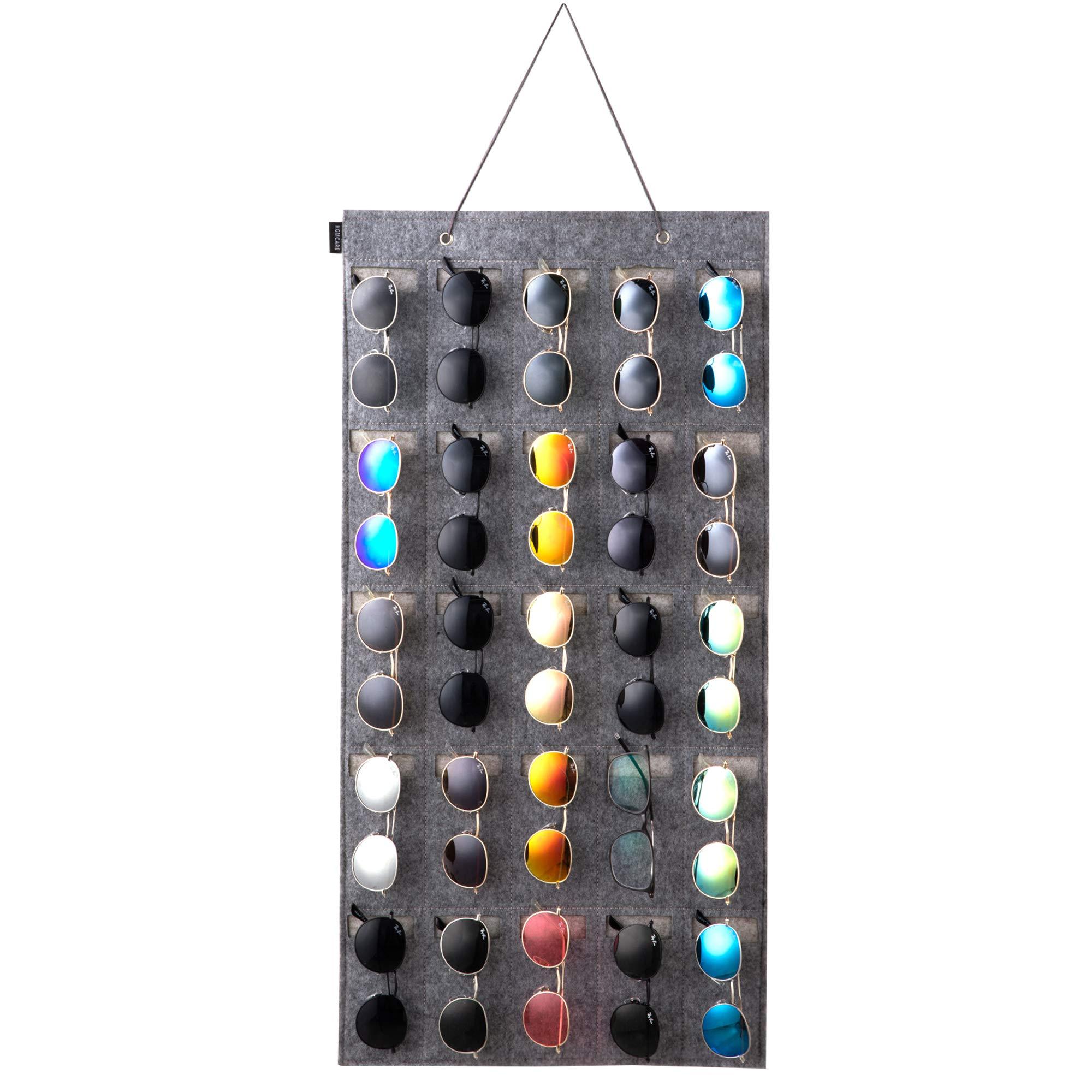 KGMCARE Sunglasses Organizer Storage- Hanging