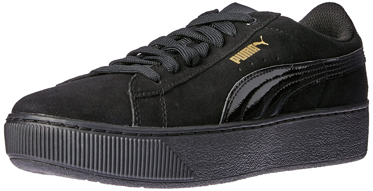 PUMA Women's Vikky Platform Fashion Sneaker B01N9E7SS5 3.5 UK|Black Black