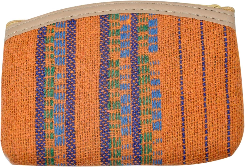 Portmonee Stoff Schlüsseltasche Geldbeutel Kartenetui Canvas Baumwolle 12 x 8 cm