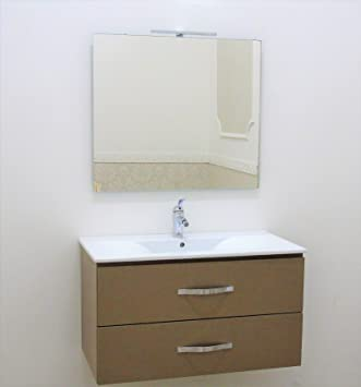 mobile da bagno sospeso moderno arredo bagno frassino cappuccino ... - Arredo Bagno Sospeso Offerte