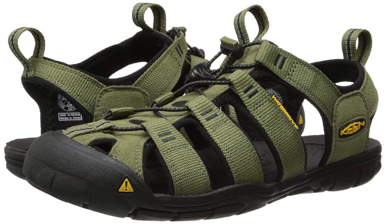 KEEN Herren Clearwater CNX (Burnt Sandalen Trekking- & Wanderschuhe, Grün (Burnt CNX Olive/schwarz) 8e6300