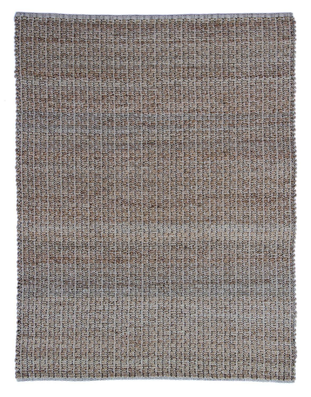 One Couture TEPPICHE HANDGEFERTIGT MODERN Streifen Design Natur SCHWARZ Teppich, Größe 160cm x 230cm
