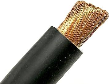 FLEXAPRENE 20/' 2//0 WELDING BATTERY CABLE BLACK 600V USA EPDM HEAVY DUTY COPPER