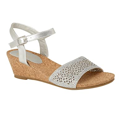 3fb2c1d17f Lotus Silver Lugalo Wedge Sandals 5: Amazon.co.uk: Shoes & Bags