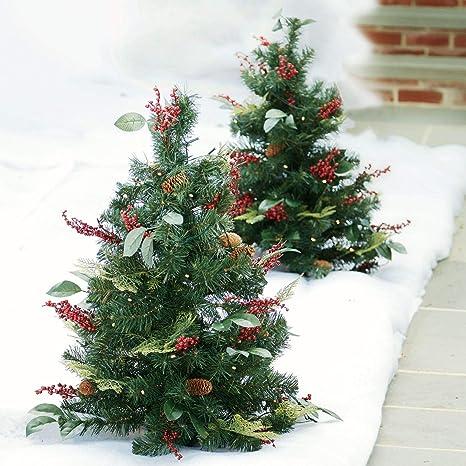 3 Pre Lit Christmas Tree.Brylanehome 3 Pre Lit Decorated Stake Tree