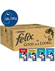 Felix As Good As It Looks Cat Pouches Mixed In Jelly 100g (120 Pouches)