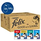 Felix As Good As It Looks Cat Pouches Mixed In Jelly, 100g (120 Pouches)