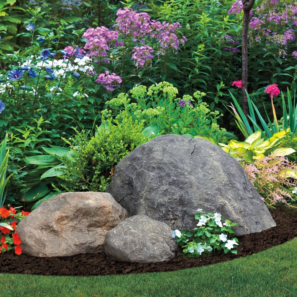 Decor garden fake rock large artificial rocks landscape for Decorative garden accents
