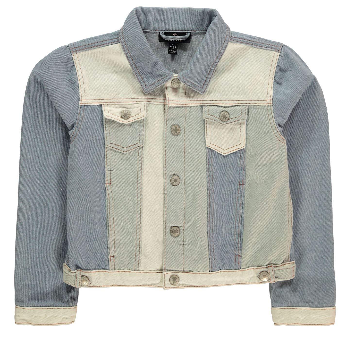 Firetrap Kids Girls Denim Jacket Junior Coat Top Cotton