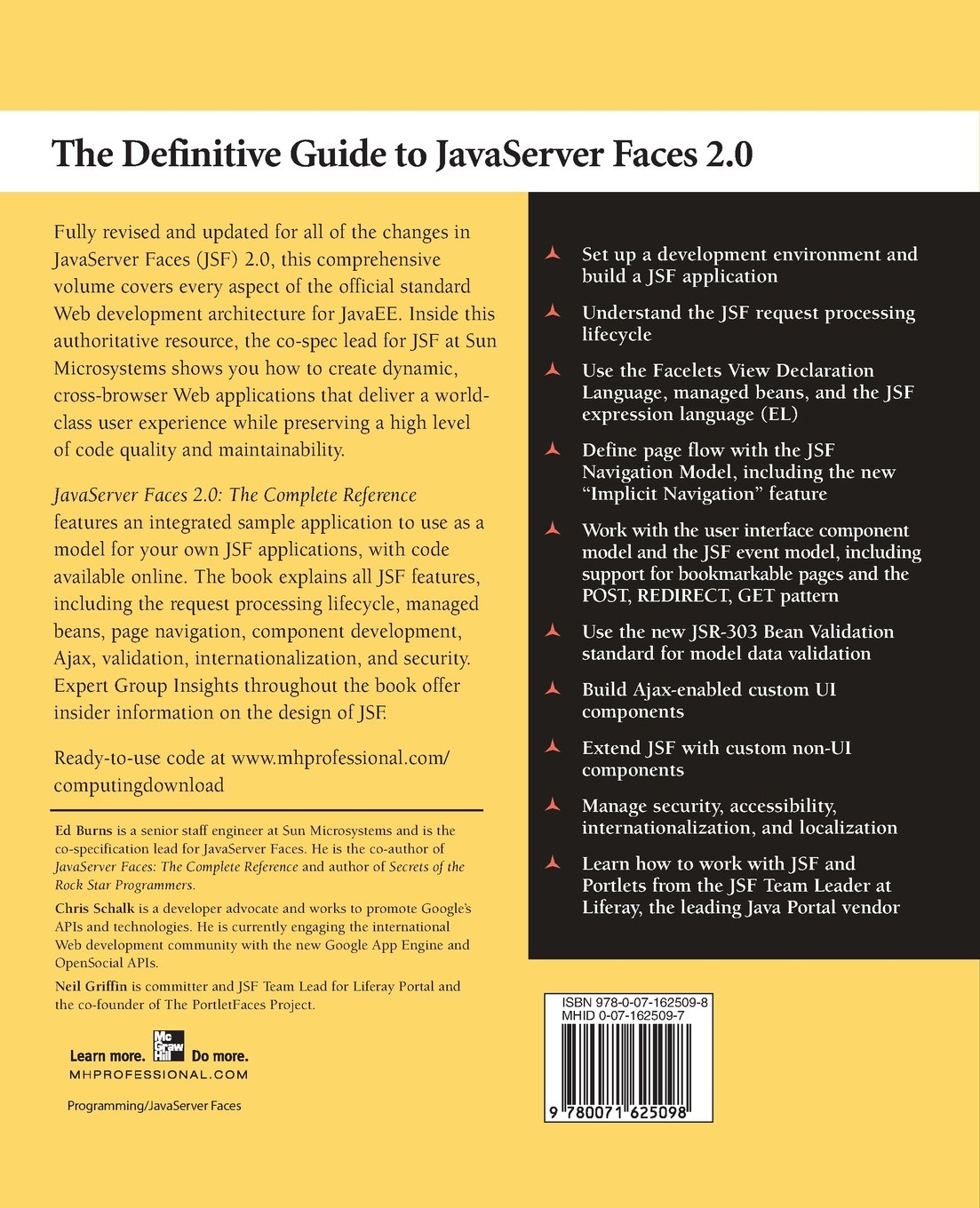 Buy JavaServer Faces 2 0, The Complete Reference Book Online