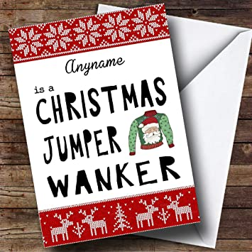 Funny xmas ugly jumper personalised christmas holiday greetings card funny xmas ugly jumper personalised christmas holiday greetings card m4hsunfo